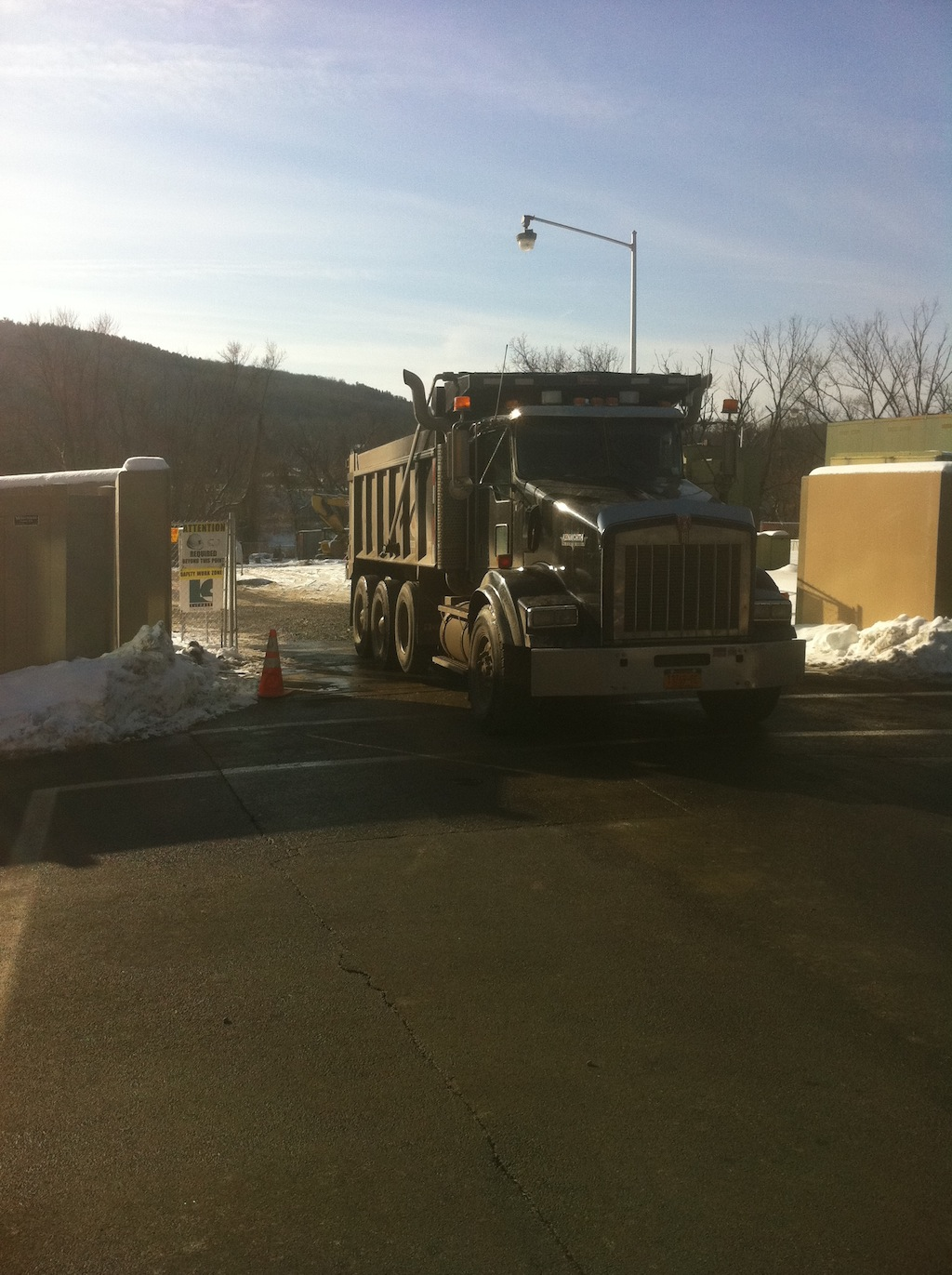 Lourdes Hospital - Truck exiting Gate #8