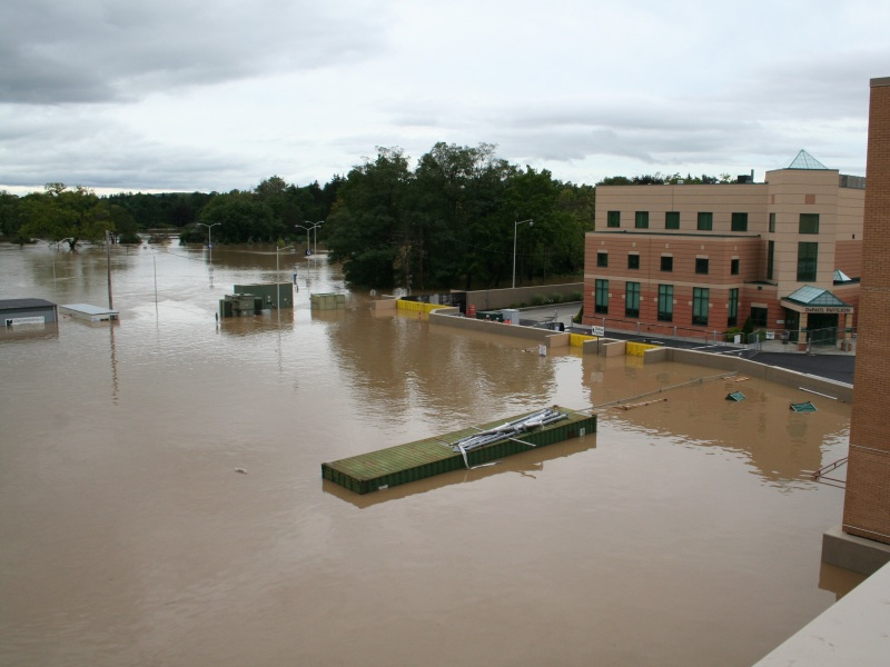 FloodBreak Floodgates protect Lourdes Hospital campus from 2011 Flood