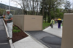 FloodBreak Pedestrian Gate provides access to hospital parking