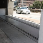FloodBreak vehicle gates protect MD Anderson building garage