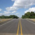 FloodBreak Roadway Gate raises IBWC levee across highway