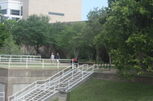 FloodBreak pasive flood barriers prevent flooding of University Center