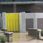 FloodBreak Pedestrian Gate designed 10' tall to close opening in floodwall during flooding