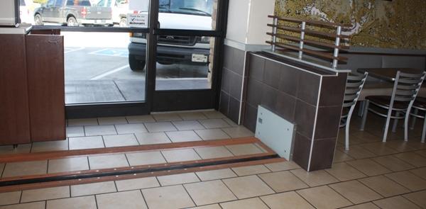 Hidden Passive Flood Barriers Protect Restaurant 24/7
