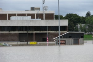 FloodBreak Automatic Floodgate protects floodwall opening from flooding