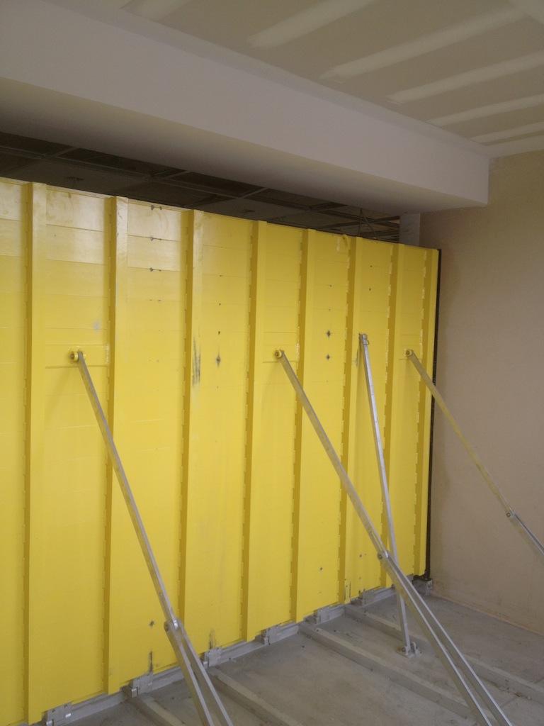 Rosenberg Library_flood barrier deployed for inspection