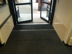 Mercy Hospital - carpet covered passive pedestrian gate