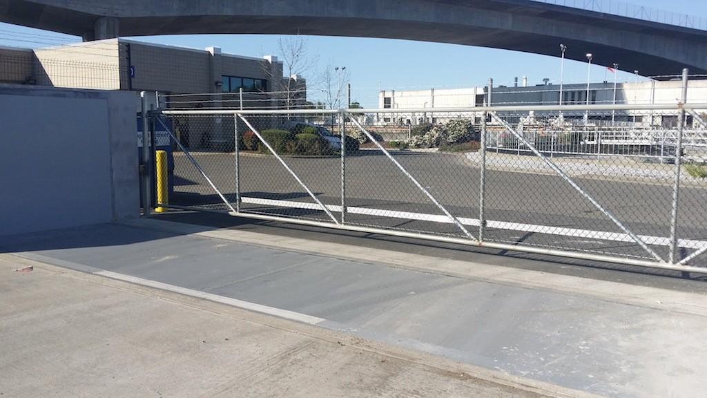 FloodBreak automatic floodgate protects treatment plant