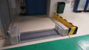 25cm passive automatic flood barrier protects against low level flash floods