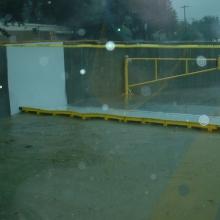 FloodBreak Automatic Floodgate deploys to protect Bayshore Medical