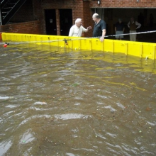 FloodBreak Automatic Floodgates protects garage from flooding