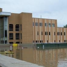FloodBreak passive floodgate deployed