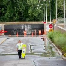FloodBreak Vehicle Gate holds back 2011 Flood