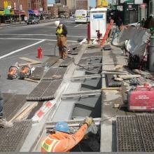 FloodBreak vent shaft fits securely beneath street level grates