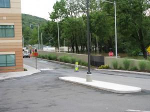 FloodBreak Pedestrian Gate closes opening in flood wall during 2011 Flood