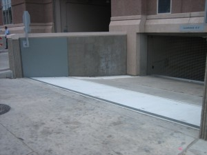 FloodBreak Automatic Floodgate protects the underground garage