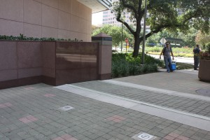 FloodBreak passive floodgates can be covered with pavers