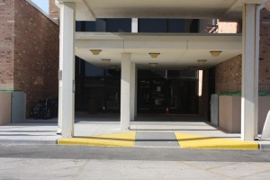 Passive flood barriers protect vehicle and pedestrian openings