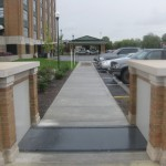 FloodBreak pedestrian gates allow full access while providing permanent flood protection