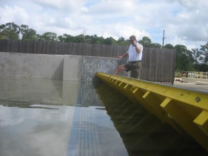 FloodBreak passive flood barrier deploys without human intervention or power