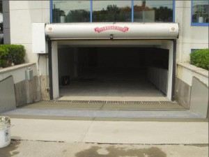 FloodBreak Automatic Floodgates protects underground garage