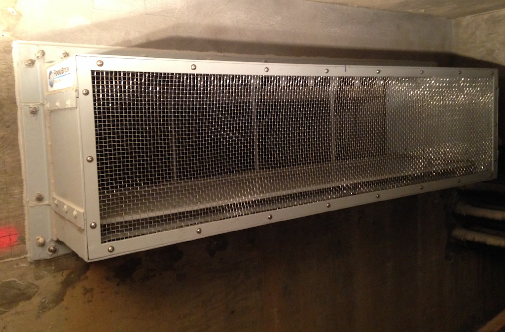 Passive automatic vent panel protects vent opening
