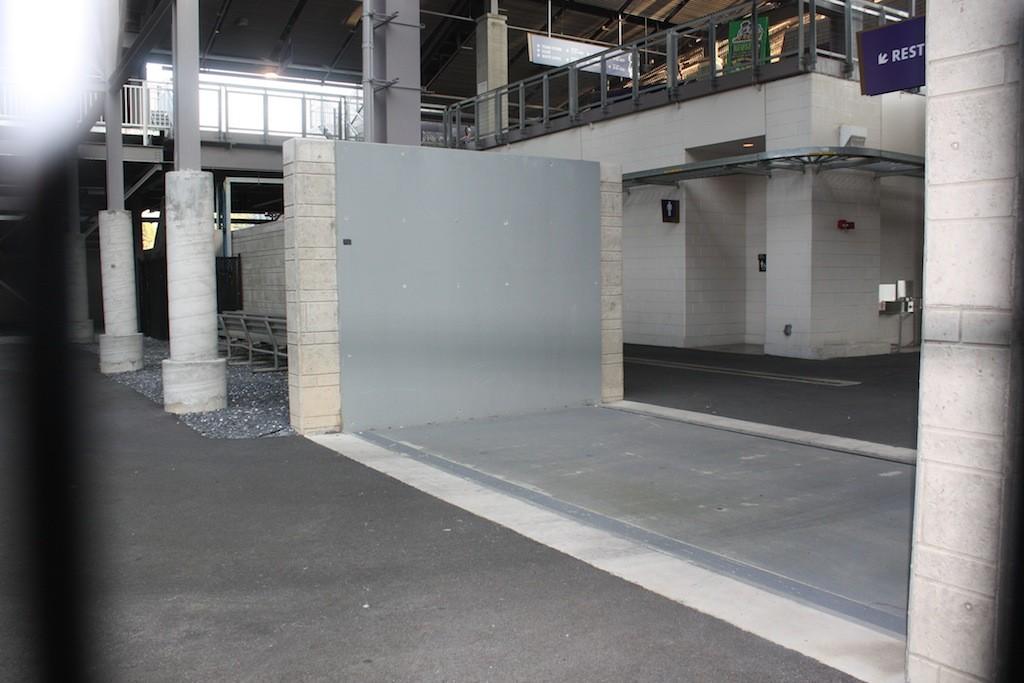 JMU-Vehicle Gate protecting stadium