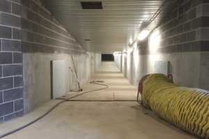 Monash Hospital _passive flood barrier protects tunnel
